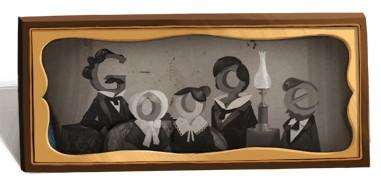 Дудл Гугла к 225-ти летнему юбилею Луи Дагера