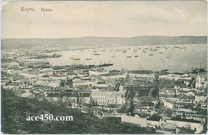 Панорама Керчи вековой давности на фотооткрытке