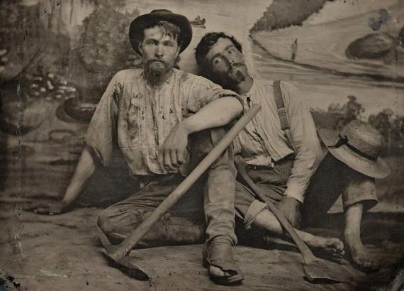 Фото золотоискателей Америки