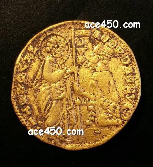 Венецианский золотой дукат 14 века