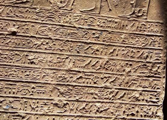 Египетские находки представляют собой плиты испещренные надписями на древнеегипетском