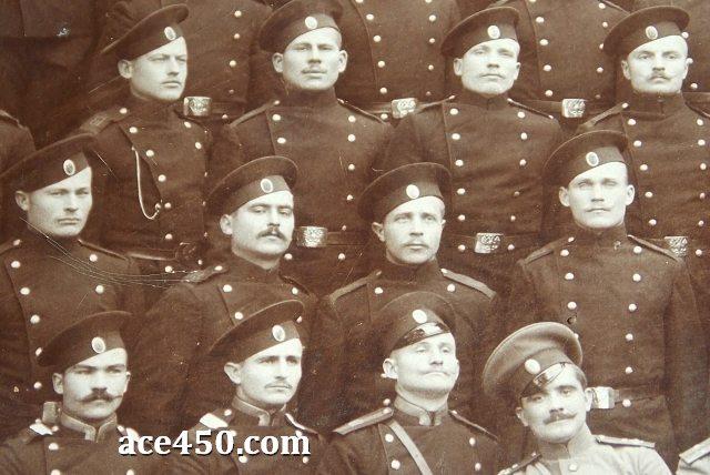 Фрагмент общей фотографии личного состава бойцов 61 пехотного владимирского полка