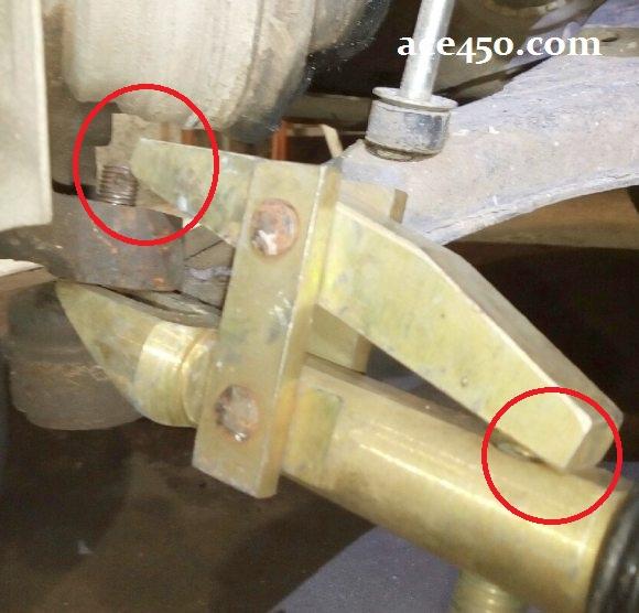 Съемник шаровой опоры Ланоса - не хватает буквально сантиметра для нормальной работы