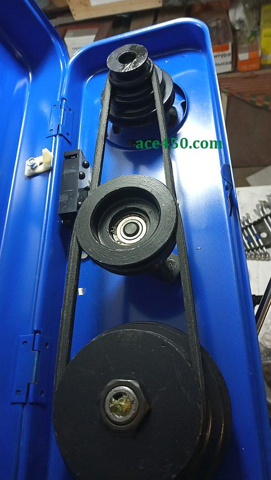 Механизм понижения количества оборотов станка для сверления Odwerk BTB16