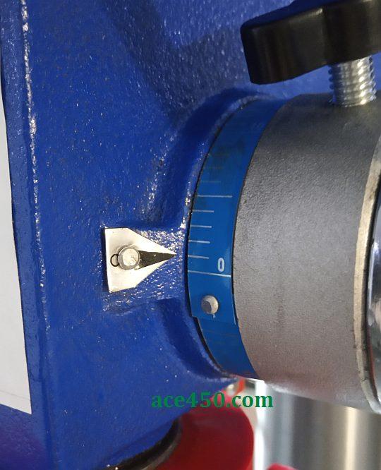 Лимб механизма вертикального перемещения головки для сверления станка Odwerk BTB16