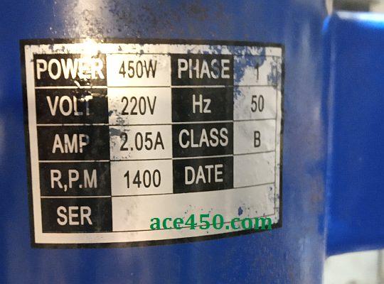 Основные характеристики используемого в сверлильном станке Odwerk BTB16 электродвигателя