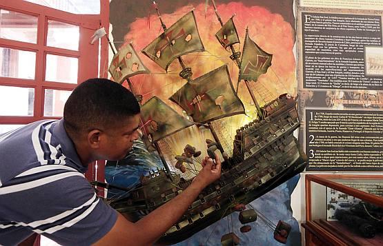 Судно было потоплено в 1708 году в Карибском море вблизи города Картахена в ходе боя с кораблями британского флота
