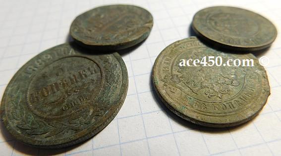 Монеты для которых применяется механическая чистка рельефа и гурта