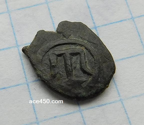 Мелкая крымско-татарская монета с тамгой
