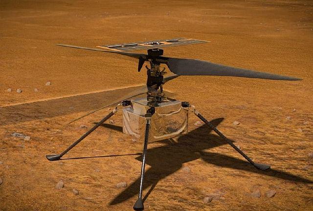 Полет вертолета на Марсе